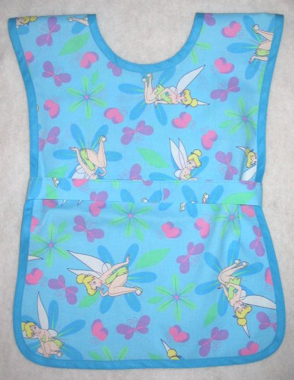 Tinkerbell Handmade Girls School Paint Art Smock - Disney School Preschool Apron