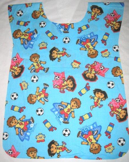 Dora Explorer Soccer School Preschool Kids Paint Smock Apron Childrens Childs