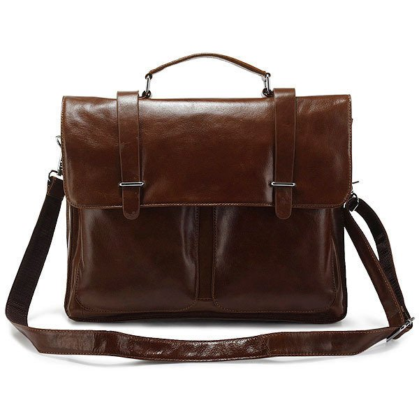 "honourable high-end business Superior Leather briefcase 14"" 15"" Laptop or 13"" 15"" MacBook Pro Bag"