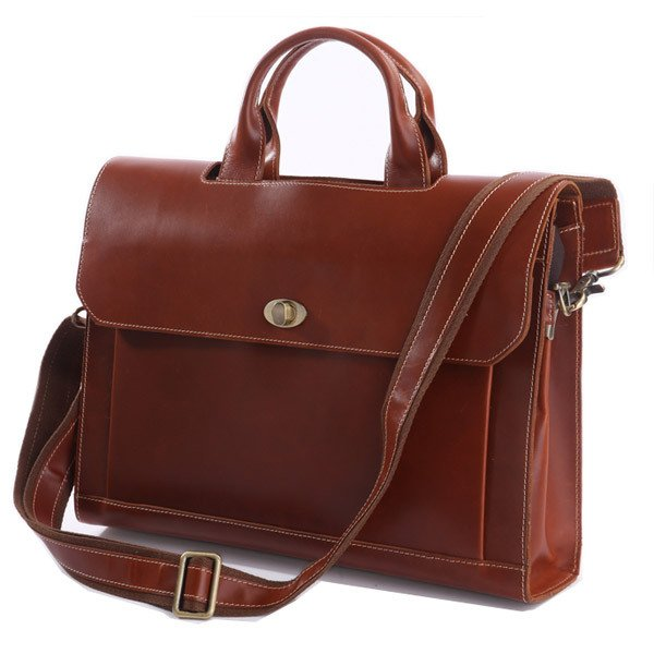"Fashionable Design Handmade Calf Leather Briefcase Messenger 14"" 15"" Laptop 13"" 15"" MacBook Bag"