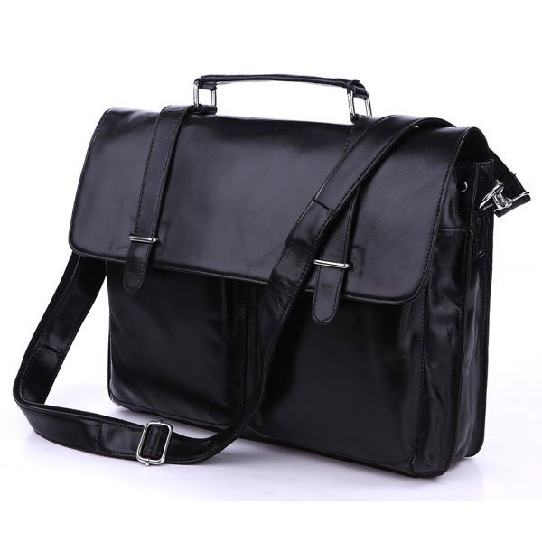 Top Quality Cowhide Genuine Leather Messenger Bag Briefcase Shoulder Bag Tote Computer Bag