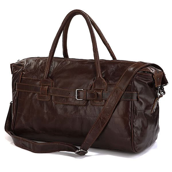 Handmade Antique Leather Travel Handbag Cross Body Duffle Bag Baggage Freeshipping