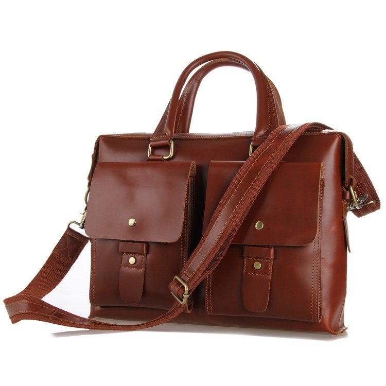 New Cowhide Leather Briefcase Messenger Bag Tote Macbook Bag iPad Case Business Bags-K70-01