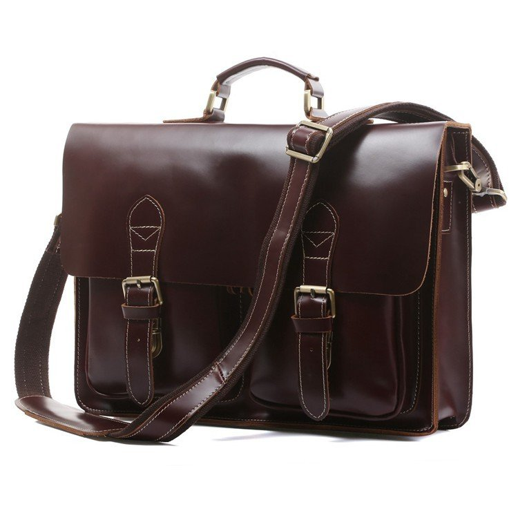 "Rare Red Wine Cowhide Leather Briefcase Laptop Bag Messenger Bag 14"" 15"" Laptop 13"" 15"" MacBook Case"