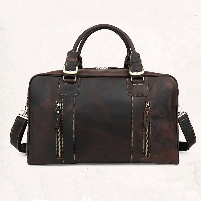 Christmas Gift Large Volume Bag Luggage Tote Baggage Cowhide Leather Bag--FREE SHIPPING