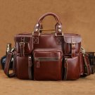 X'mas Gift Leather Men's Briefcase Laptop Bag Dispatch Shoulder Bag--FREE SHIPPING