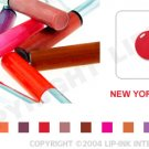 LIP INK NY Apple Red Smearproof Lip Stain LipGel + Off & Shine Towelettes