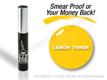 LIP INK Lemon Toner Smearproof Lip Stain + Off & Shine Towelettes