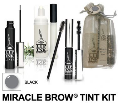 Lip Ink ® Black Miracle Brow Tint/Liner Kit