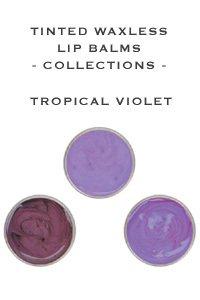 Lip Ink Tinted Waxless Lip Balm 3 Lot - Tropical Violet