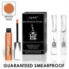 LIP INK Natural Vegan Smearproof Nevada Gold Lip Stain LipGel Kit + Off & Shine