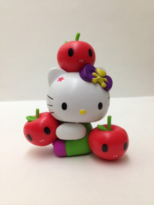 7-11 HK Sanrio Hello Kitty Tokidoki Wonderland Figurine Apple Kitty