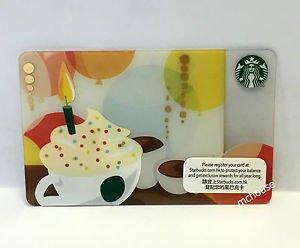 Starbucks Coffee Hong Kong Happy Birthday Gift Card