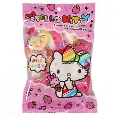 Sanrio Hello Kitty Strawberry Flavor Jam Marshmallow Ice Cream Cone Cotton Candy