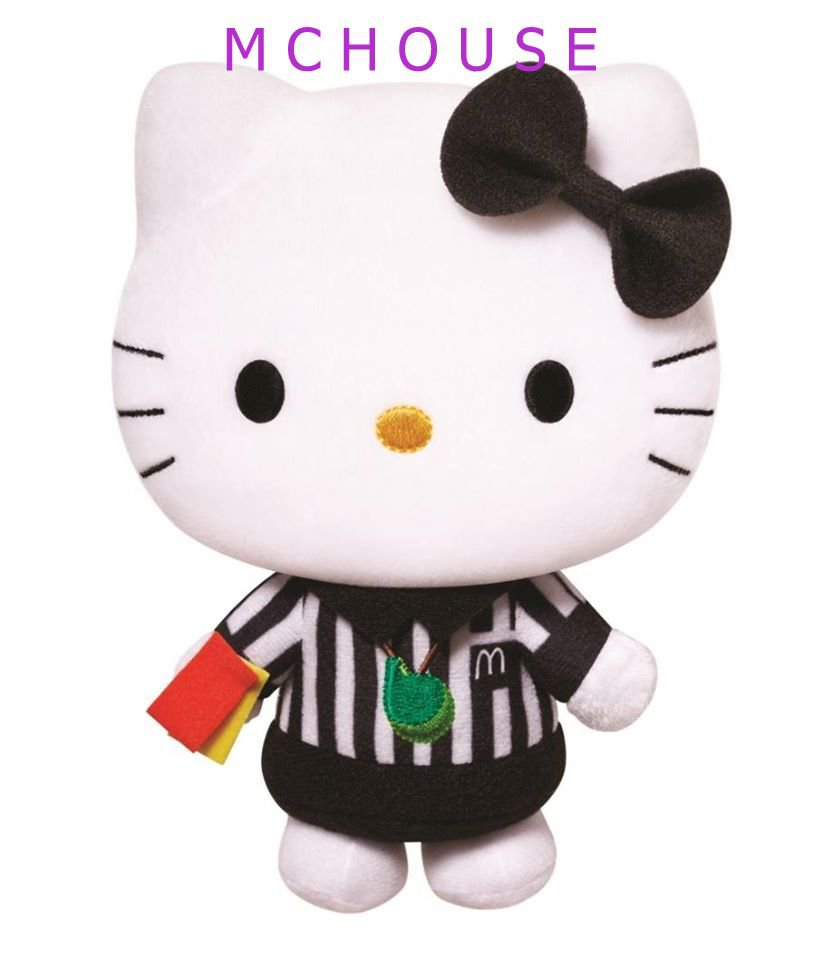 Mcdonald's 2014 Sanrio HELLO KITTY K League FIFA World Cup Plush Doll (Referee)