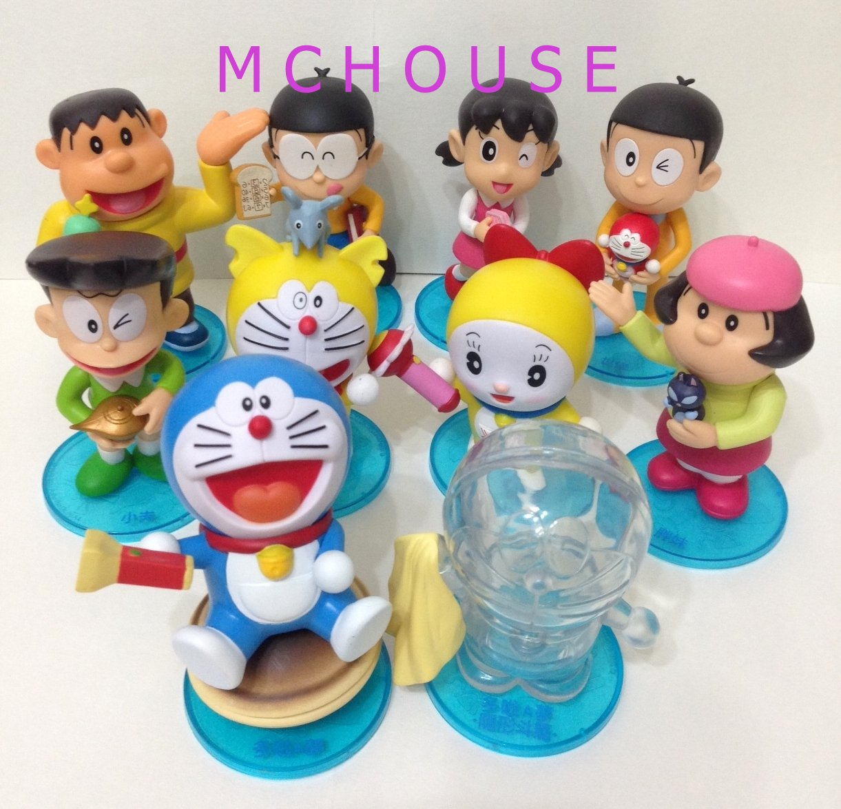 7-11 HK 2014 Doraemon and Friends Make a wish Figurines 1 set (10pcs)
