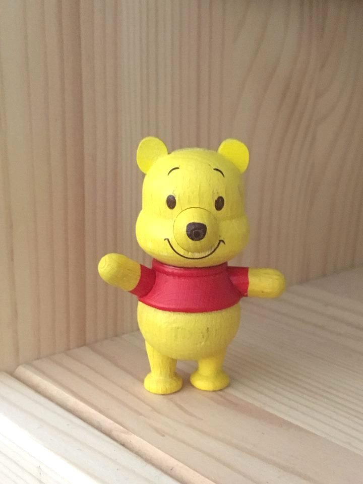 7-11 Disney Winnie the Pooh & Friends Wooden Figure - Pooh