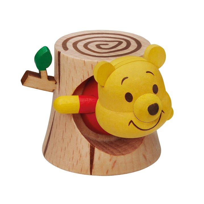 7-11 Disney Winnie the Pooh & Friends Wooden Figure - Pooh in tree hole
