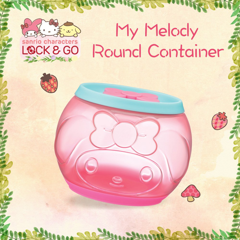 "7-11 HK Sanrio ""Lock & Go"" My Melody Round Container"