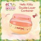 "7-11 HK Sanrio ""Lock & Go"" Hello Kitty Double-Layer Container"