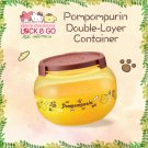 "7-11 HK Sanrio ""Lock & Go"" Pom Pom Purin Double-Layer Container"