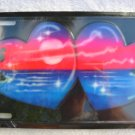 Airbrushed metal license plate-2 Hearts