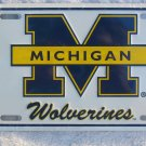 University of Michigan Wolverines Metal License Plate-white