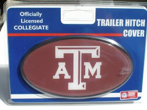 Texas A&M University Plastic Trailer Hitch Cover