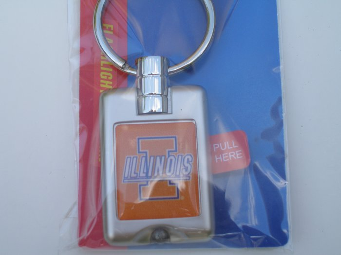 University of Illinois LED Flashlight Keychain
