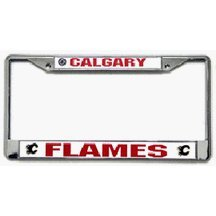 Calgary Flames Chrome License Plate Frame