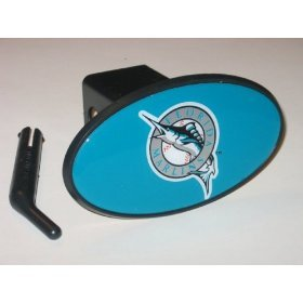 Florida Marlins Plastic Trailer Hitch Cover