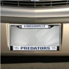 Nashville Predators Chrome License Plate Frame