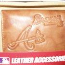 Atlanta Braves Pecan Leather Trifold Wallet