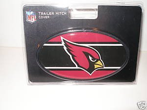 Arizona Cardinals Plastic Trailer Hitch Cover