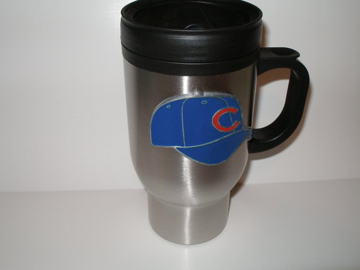 Chicago Cubs 16 oz Stainless Steel Travel Mug
