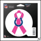Indianapolis Colts Indoor/Outdoor Pink Ribbon Magnet