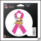 Minnesota Vikings Indoor/Outdoor Pink Ribbon Magnet