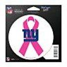 New York Giants Indoor/Outdoor Pink Ribbon Magnet