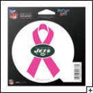 New York Jets Indoor/Outdoor Pink Ribbon Magnet