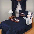 Denver Broncos Locker Room 8 pce Bedding Set-Queen