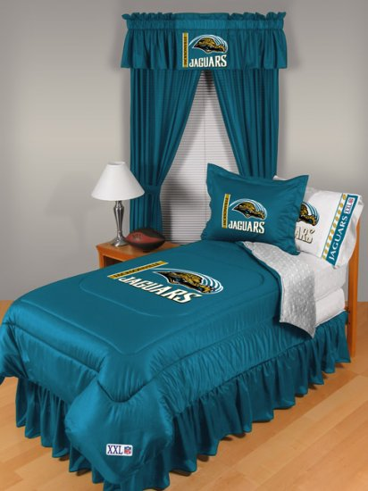 Jacksonville Jaguars Locker Room 7 pce Bedding Set-Twin