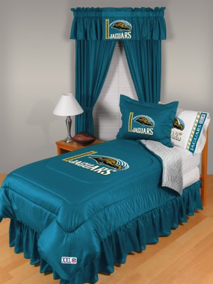Jacksonville Jaguars Locker Room 8 pce Bedding Set-Queen