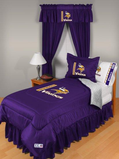 Minnesota Vikings Locker Room 8 pce Bedding Set-Queen