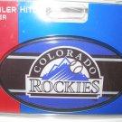 Colorado Rockies Plastic Trailer Hitch Cover