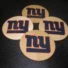 New York Giants Homemade Wooden Coasters-set of 4
