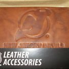 New Jersey Devils Pecan Leather Trifold Wallet