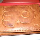 Philadelphia Flyers Pecan Leather Trifold Wallet