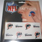 Miami Dolphins Peel and Stick Tattoos
