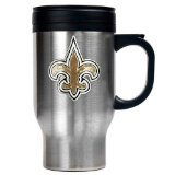 New Orleans Saints Stainless Steel Travel Mug