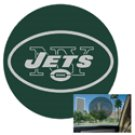 New York Jets Perforated Decal